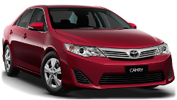 Family car hire, large, full size, Toyota Camry, Surfers Paradise, Gold Coast Airport, Brisbane Airport.